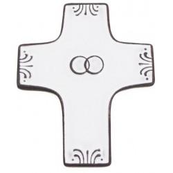 cadeau mariage religieux : croix céramique mariage