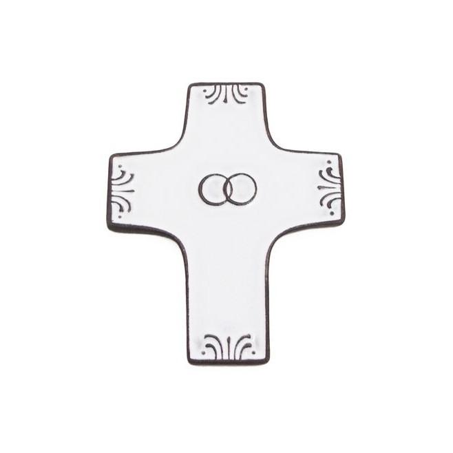 """cadeau pour un mariage : croix céramique """"mariage"""""""