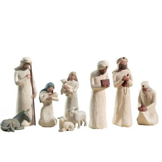 Cr che de no l willow tree comptoir religieux - Figurine creche de noel ...