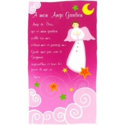 Cadre Prière Ange gardien - fille
