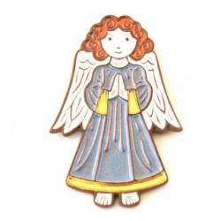 Ange en prière bleu et Or