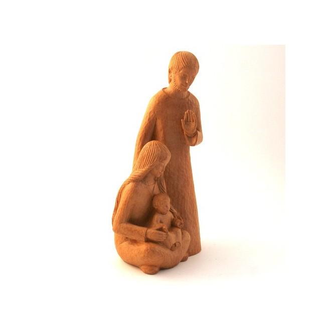 Statue Yves le Pape - Sainte Famille ton bois