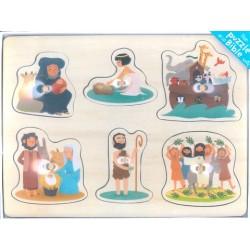 Cadeau de baptême : Mon Puzzle de la Bible - Mame