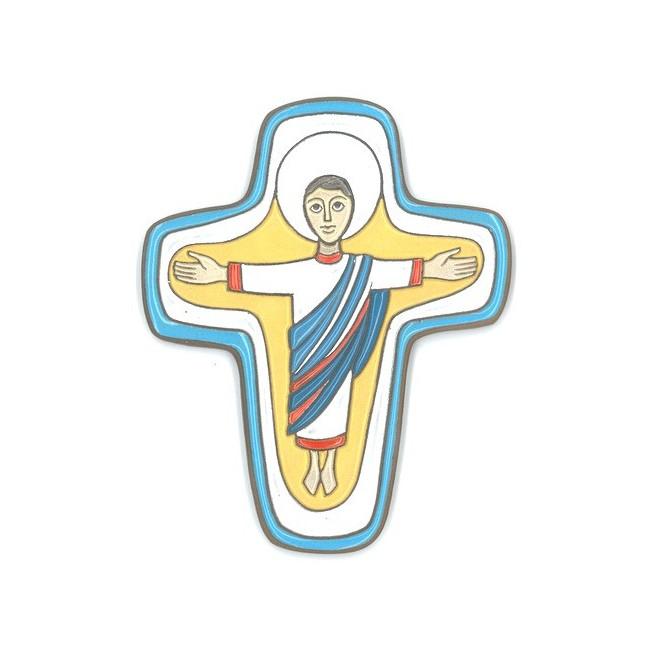 """Croix en céramique """"Seigneur réssuscité"""""""