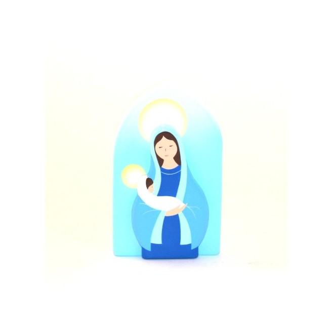 Cadre religieux en bois - Vierge à l'Enfant
