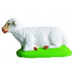 Mouton couché blanc - Santon Marcel Carbonel