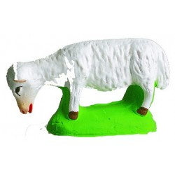 Santon de Provence Marcel Carbonel - Mouton broutant blanc