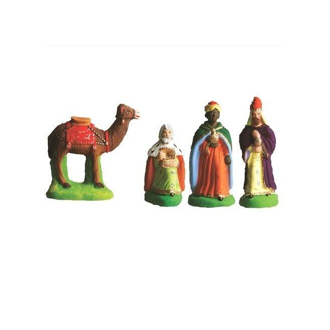 3 rois mages et un chameau - Santon Marcel Carbonel