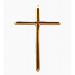 Crucifix en bronze émaillé rouge -12 cm