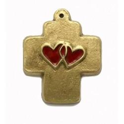 Croix du mariage en bronze - 8 cm