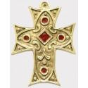 Croix en bronze émaillée BLEU - 11.5 cm