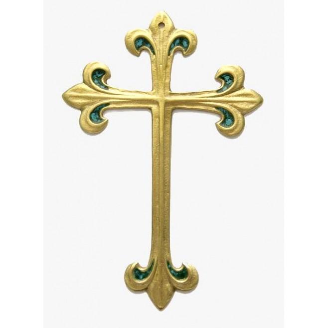 Croix Scout fleur de Lys en bronze - 8.5 cm