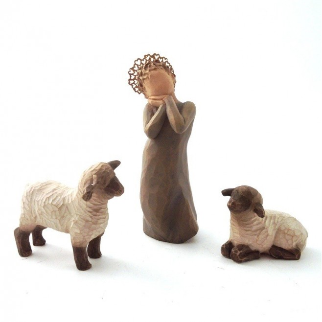 Nouveauté 2012 - Creche Willow Tree - Petite bergère