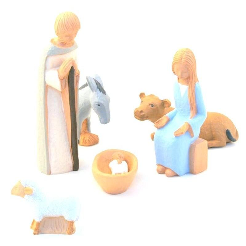 creche no l yves le pape 6 santons comptoir religieux. Black Bedroom Furniture Sets. Home Design Ideas