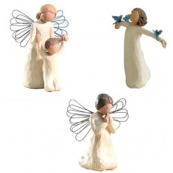 KIT Noël 6 - Anges Willow Tree pour Creche Willow Tree