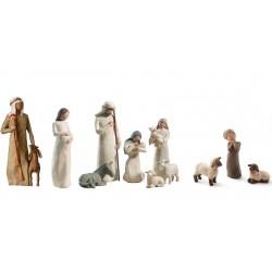 Crèche Willow Tree - Nativité + Vierge de l'attente + berger & bergere + 2 moutons