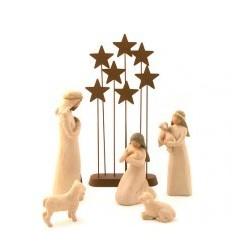 Crèche Willow Tree - Nativité et étoiles