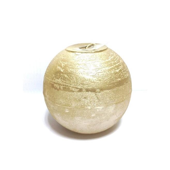 Bougie de décoration dorée - Broste