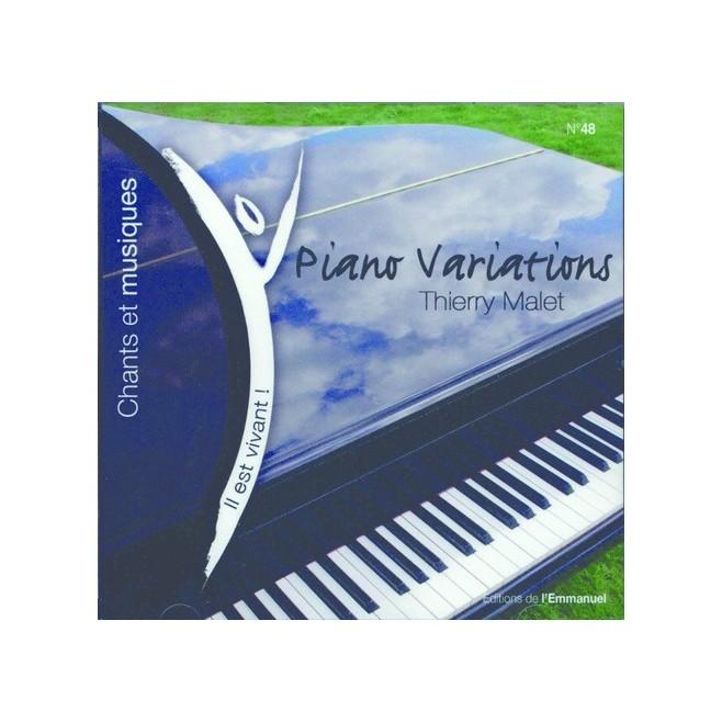 CD Il est vivant ! Piano Variations Thierry Malet - Éditions de l'Emmanuel