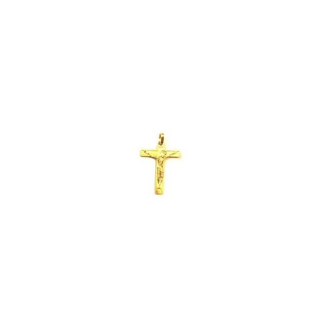 Croix de cou estampée doré