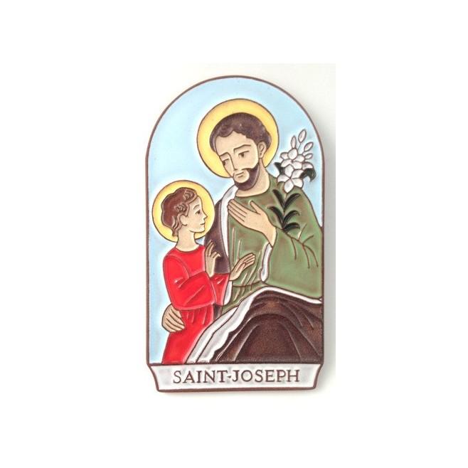 """Cadre en céramique """"Saint Joseph"""""""