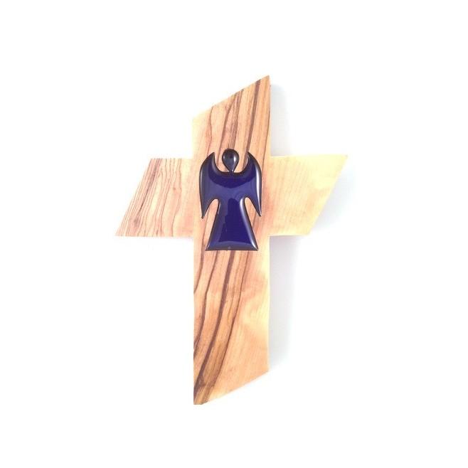 Croix en Olivier - Ange
