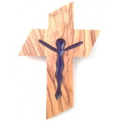 Croix en Olivier - Christ