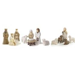 Crèche de Noël en bois - 12 Santons