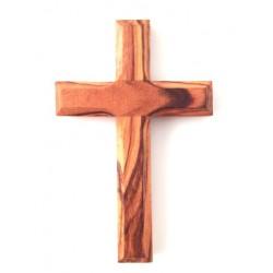 Croix de cou en olivier véritable