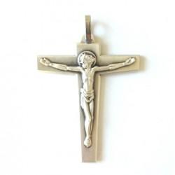 Croix d'aube en métal argenté