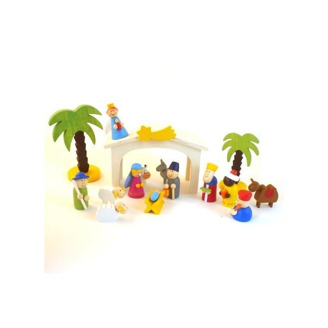 Crèche de Noël en bois pour enfants -