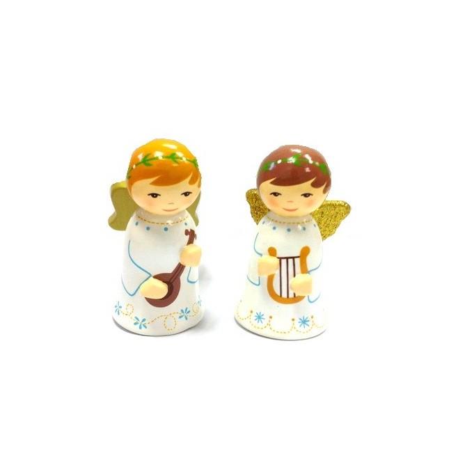 2 anges - Crèche de Noël en bois