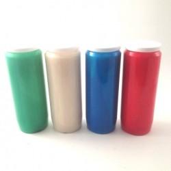 20 Bougies de neuvaine de couleurs assorties