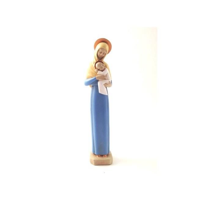Vierge mère auréolée décorée
