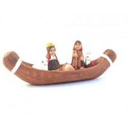 Creche péruvienne terre cuite - canoé
