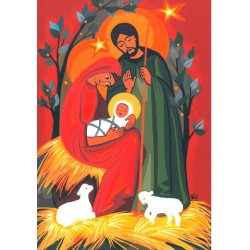 Cadre Sainte Famille aux Agneaux - Aabbye de Venière