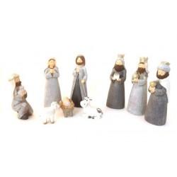 Creche de Noel moderne - 9 santons