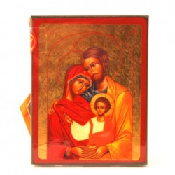 ICONE RELIGIEUSE OR - 9x12 Sainte Famille