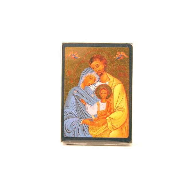 ICONE RELIGIEUSE OR - 9x12 La Ste Famille