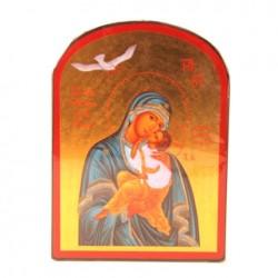 Icone religieuse or - 9X12 Notre Dame de la Paix