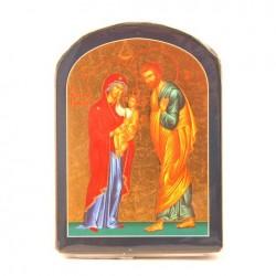 ICONE RELIGIEUSE OR - Sainte Famille (chantournée bleu)