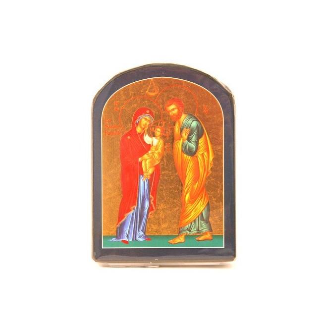 ICONE RELIGIEUSE OR - 9x12 Sainte Famille