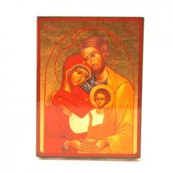 ICONE RELIGIEUSE OR - 19,5x24 La Ste Famille