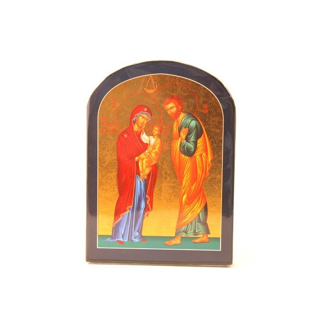 ICONE RELIGIEUSE OR - 14x19 Sainte Famille