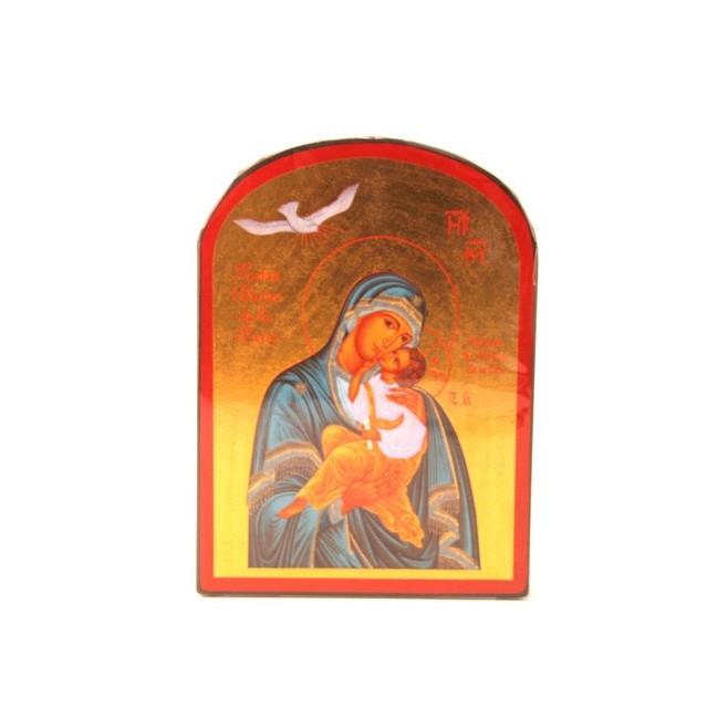 ICONE RELIGIEUSE OR 14x19 Notre Dame de la Paix