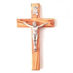 Crucifix en olivier de terre sainte