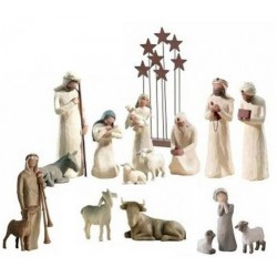 Figurines Noel Willow Tree complète - décor étoile.