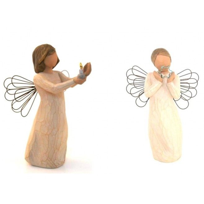 KIT Noël 6- Anges Willow Tree pour Creche Willow Tree