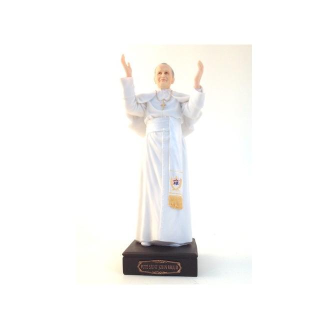 Statue pape Saint Jean paul 2 - 27.5cm