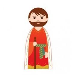 Abraham - Crèche de Noël en bois tourné